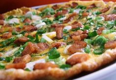 Hawaiian Pizza, Vegetable Pizza, Bacon, Food And Drink, Low Carb, Healthy Recipes, Cooking, Breakfast, Budapest