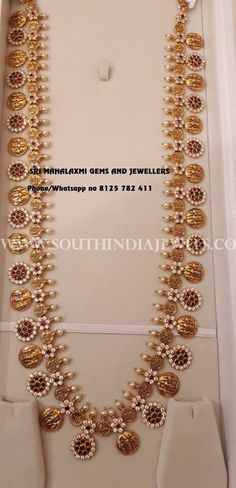 Formal jewellery - works with high neck blouses. Indian Wedding Jewelry, Bridal Jewelry, Beaded Jewelry, Indian Weddings, Gold Jewelry Simple, Gold Jewellery Design, Silver Jewellery, India Jewelry, Jewelry Patterns