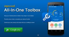Best Android cleaner with all-in-one solution for android optimization.  AIO Toolbox for Android