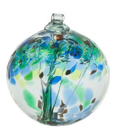 $15 Look what I found on #zulily! Blue 2.5'' Kitras Tree of Encouragement Ornament #zulilyfinds