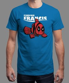 """Finding Francis"" is today's £8/€10/$12 tee for 24 hours only on www.Qwertee.com Pin this for a chance to win a FREE TEE this weekend. Follow us on pinterest.com/qwertee for a second! Thanks:)"