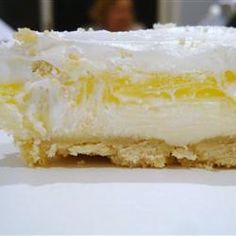Lemon Lush- cool & creamy version of lemon meringue pie, only better, if that's possible!