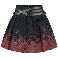 Blood stained black skirt