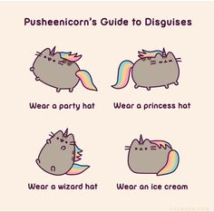 Pusheen Love, Pusheen Cat, Princess Hat, Sign Off, Wearing A Hat, Disney Drawings, Cute Illustration, Party Hats, The Funny