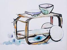 Tea Trolley by Alvar Aalto - Artek