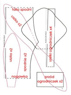 Znalezione obrazy dla zapytania ubranka tilda wykroje