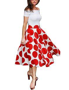Là Vestmon Retro Farbe Punkt Gedruckt Sexy Kleid Damen Kleider