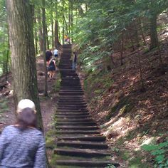 Hiking along the gorges in Ithaca NY