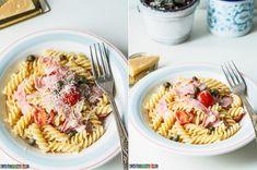 Pierogi ze szpinakiem i serem feta Pierogi, Fusilli, Penne, Feta, Spaghetti, Ethnic Recipes
