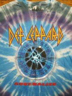 bf007bc9850 Official Def Leppard Concert t-shirt Adult S Tie-Dye Adrenalize Tour 1992  VTG