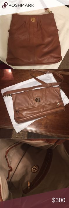 Beautiful tan Tory Burch In excellent condition * can be used crossbody,  clutch, folded over or regular for more space Tory Burch Bags