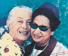 Um Kalthoum and Badia Masabny - Egyptian Singer and Dancer Dance Oriental, Egyptian Movies, Arab Celebrities, Egyptian Actress, Egyptian Women, Alexandria Egypt, Old Egypt, Arab Women, Golden Star
