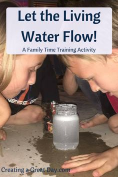 "Fantastic activity on how to teach kids about Christ's ""Living Water."""