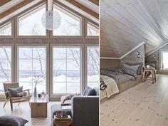 Fint på fjellet - Drømmehytta i Hemsedal - Bo-Bedre. Cabin Homes, Log Homes, Chalet Interior, Interior Design, Scandinavian Cabin, Log Cabin Living, Cabins And Cottages, Cottage Interiors, Living Room Remodel