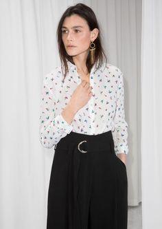 & Other Stories image 1 of Silk Shirt in White