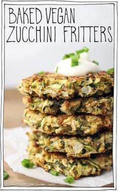 Baked Vegan Zucchini Fritters