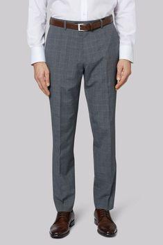 806579eb0ead1 Moss Esq. Regular Fit Grey Check Trousers 42S TD086 KK 16  fashion  clothing