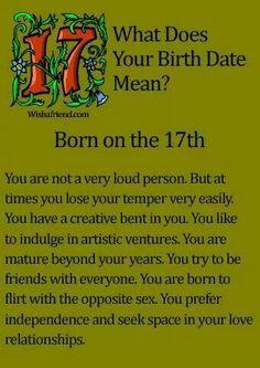 Born on the 17th