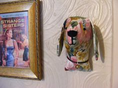 Fabric Trophy head. Dog wall hanging. Fake by TillyLaneTreasures, $18.00