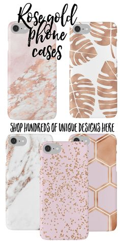 Heaps of adorable rose gold phone cases to choose from by Peggie Prints on Redbubble - find your unique favourite and get it fast!
