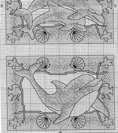 Cross Stitch Sea, Counted Cross Stitch Patterns, Cross Stitch Charts, Everything Cross Stitch, Ocean Scenes, Stitch 2, Sea Creatures, Cross Stitching, Blackwork