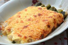 Preirolletjes met ham en kaas uit de oven