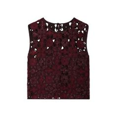 Alberta Ferretti Cutout Sleeveless Top (3 570 SEK) ❤ liked on Polyvore featuring tops, purple, fringe tops, embroidered tops, purple sleeveless top, brown sleeveless top and evening tops