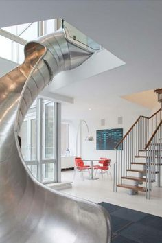 Slide and staircase