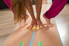 Each line on the TOGI is mindfully included with the intention of helping to prevent injury in both the short and long run. This can be achieved when the feet of the yoga practioner are placed along and in line with the green, blue and organge lines provided. Injury Prevention, How To Run Longer, Yoga, Green, Blue, Yoga Sayings