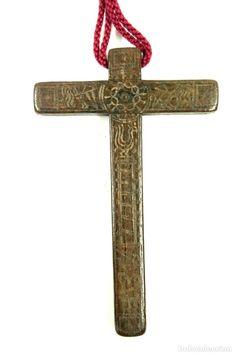 5 Dijes Cruz Colgante de cobre antiguo religioso cortar cristiano católico 20mm