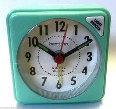 #Turquoise #travel alarm clock quartz clear face acctim light snooze with #batter,  View more on the LINK: http://www.zeppy.io/product/gb/2/272456545451/