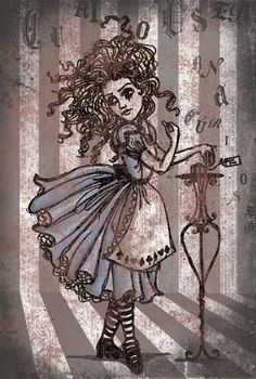 Wild haired Alice (artist uncredited in source)