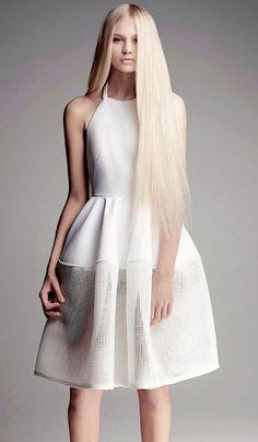 Womens fashion editorial photo shoot: Rebecca Szulc by Troyt Coburn for Marie Claire magazine Australia October 2013 (mw) Minimal Fashion, White Fashion, Dress Skirt, Dress Up, Bcbg, Inspiration Mode, Little White Dresses, Her Style, Passion For Fashion