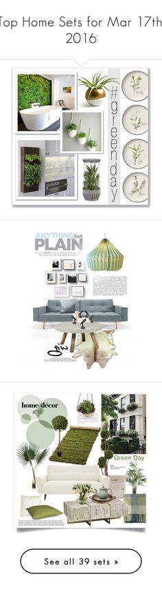 """""""Top Home Sets for Mar 17th, 2016"""" by polyvore ❤ liked on Polyvore featuring interior, interiors, interior design, home, home decor, interior decorating, Williams-Sonoma, Progressive International, greenday and Innovation"""