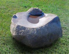 """""""Współistnienie"""" - 2013, granit, woda, 70x40x60cm, 2013"""