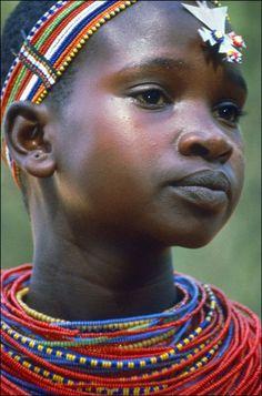 Young Samburu Girl - Samburu National Park, Kenya by Izzet Keribar