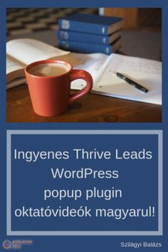 thrive Leads zseniális wordpress popup plugin oktató videó Popup, Online Marketing, Wordpress, Led, Mugs, Tableware, Dinnerware, Tumblers, Tablewares