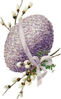 Vintage Easter egg art.