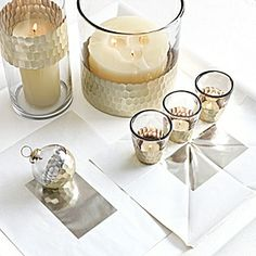 Plated Glass Votives – Silver (Set of 4) | Serena & Lily