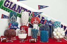 Sports Candy Buffet starring Nuts.com candy.#nutsdotcom #wedding