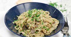 Tagliatelle med svamp och vitlök Parmesan, Veggies, Ethnic Recipes, Food, Vegetable Recipes, Vegetables, Essen, Meals, Yemek