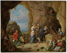 Temptations of Saint Anthony Abbot / Tentaciones de san Antonio Abad // Siglo XVI // David Teniers