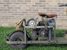 Original U.S. WWII 1944 Model 53 Airborne Motor Scooter & Accessories- Fully Restored ima-usa.com