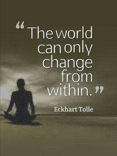 How will the world change? Eckhart Tolle #eckharttolle #eckharttollequotes #kurttasche
