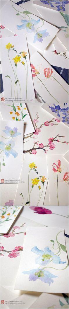 Beautiful watercolor flowers painting ideas.