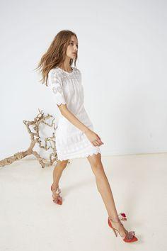 Ulla Johnson Spring 2016 Collection - Viola Dress with Valentina Heel