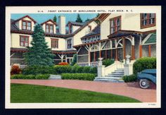 Bonclarken Hotel Flat Rock N.C. North Carolina postcard