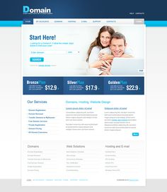 Hosting and Domains Flash Animated Joomla Template on Behance