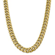 #Jewelry ICE CARATS 14k Yellow Gold 15mm Miami Cuban Chain Necklace 24 Inch Curb Fine Jewelry Gift Valentine Day Set For Women Heart
