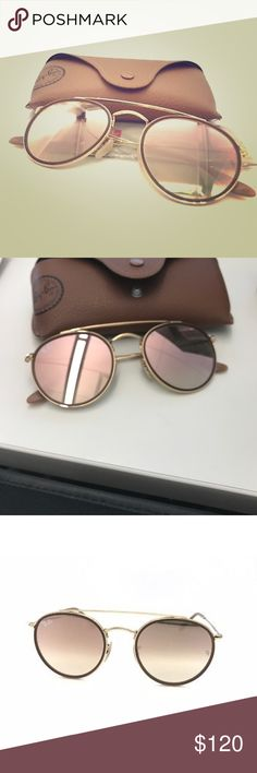 New! Rayban double bridge rose gold! Brand new, no scratches 51 mm, rose gold flash lens rb3647n, I am looking for a gradient of this style Ray-Ban Accessories Sunglasses